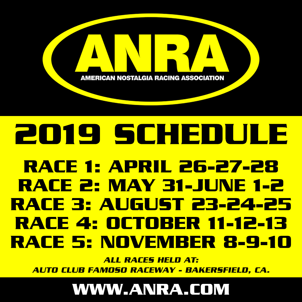 Schedule – ANRA